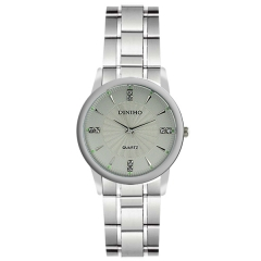 Diniho 32mm Silver Bezel Semi-steel Quartz Watch