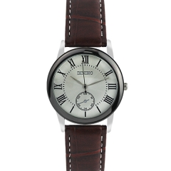 Diniho Bla Bezel Roman Numeral Display Semi-steel Quartz Watch