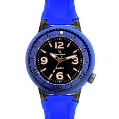 V6 Super Speed Blue Bezel Blue Dial Blue Silicone Band Quartz Watch