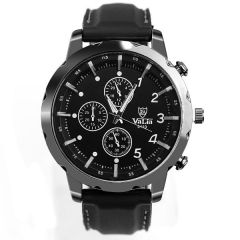 Men's Metal Bla Case Bla Dial White Scale Quartz Watch