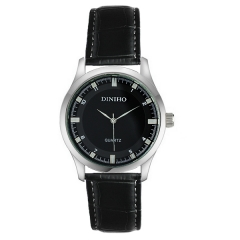 Diniho Silver Bezel Semi-steel Quartz Watch