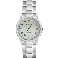 Diniho 39mm Roman Numeral Display Semi-steel Quartz Watch
