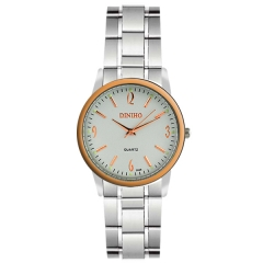Diniho 32mm Rose Gold Bezel Semi-steel Quartz Watch