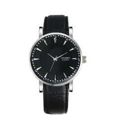 Diniho Silver Bezel Silver Batons Semi-steel Quartz Watch