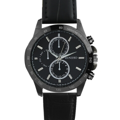 Diniho 8012G Black Case Black Dial Semi-steel Quartz Watch