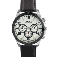Diniho 8013G Silver Case Off White Dial Semi-steel Quartz Watch
