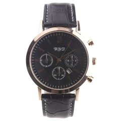 WYQ 89015 Men's Casual Date Display Steel Batons Quartz Watch