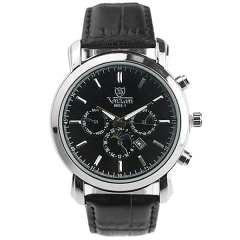 Valia 8603-1 Date Display Minutes Scale Semi-steel Quartz Watch