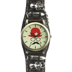 Jinnaier Beige Dial Punk Style Quartz Watch
