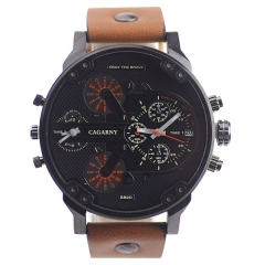 Gagarny 6820 Date Display Double Movt Advanced Quartz Watch