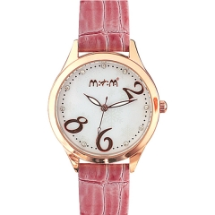 Mitina M201 White Dial Red Strap Quartz Watch
