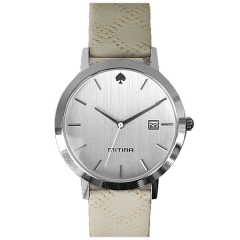 Mitina Date Display Batons Silver Face Advanced Quartz Watch
