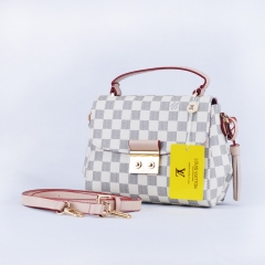 Damier Azur with Gold Hardware Croisette Bag