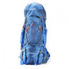 Royal Mountain  55L+ 75L Internal Frame Backpack Water-resistant Hiking Backpack Backpacking Trekking Bag with Rain Cover