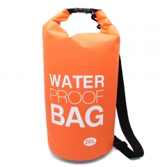 Waterproof Dry Bag, 500D PVC Fabric,20L for Diving, Kayaking, Swimming, Boating, Fishing Watertight Roll-Top Closure & Detachable Adjustable Shoulder