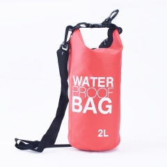 Waterproof Dry Bag, 500D PVC Fabric,2L for Diving, Kayaking, Swimming, Boating, Fishing | Watertight Roll-Top Closure & Detachable Adjustable Shoulder