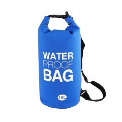 Waterproof Dry Bag, 500D PVC Fabric,10L for Diving, Kayaking, Swimming, Boating, Fishing Watertight Roll-Top Closure & Detachable Adjustable Shoulder