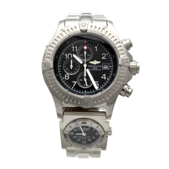 Double Dials Silver Bracelet Stainless Steel Chronomat Quartz Watch
