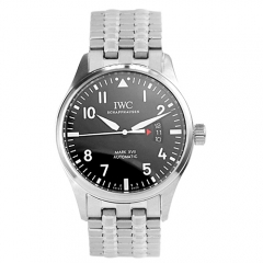 Stainless Steel Bracelet Stainless Steel Case Black Dial Pilot Automatic Watch